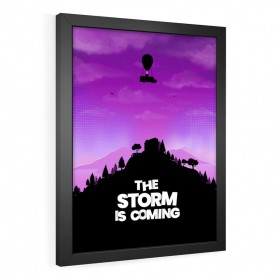 QUADRO DECORATIVO THE STORM IS COMING | FORTNITE