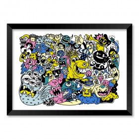 QUADRO MONSTERS STICKERS