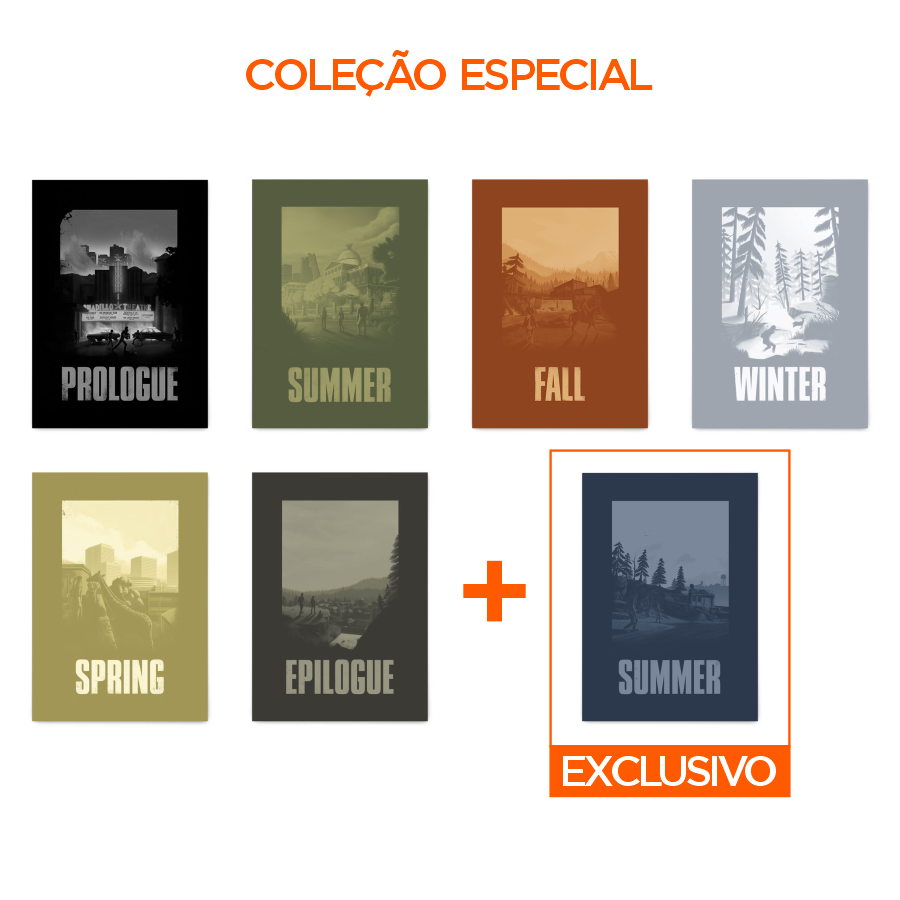 COLEÇÃO ESPECIAL COM 7 QUADROS DECORATIVOS THE LAST OF US  - Pôster no Quadro