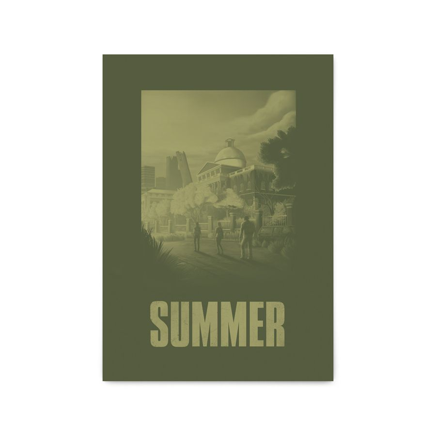 QUADRO DECORATIVO SUMMER | THE LAST OF US  - Pôster no Quadro