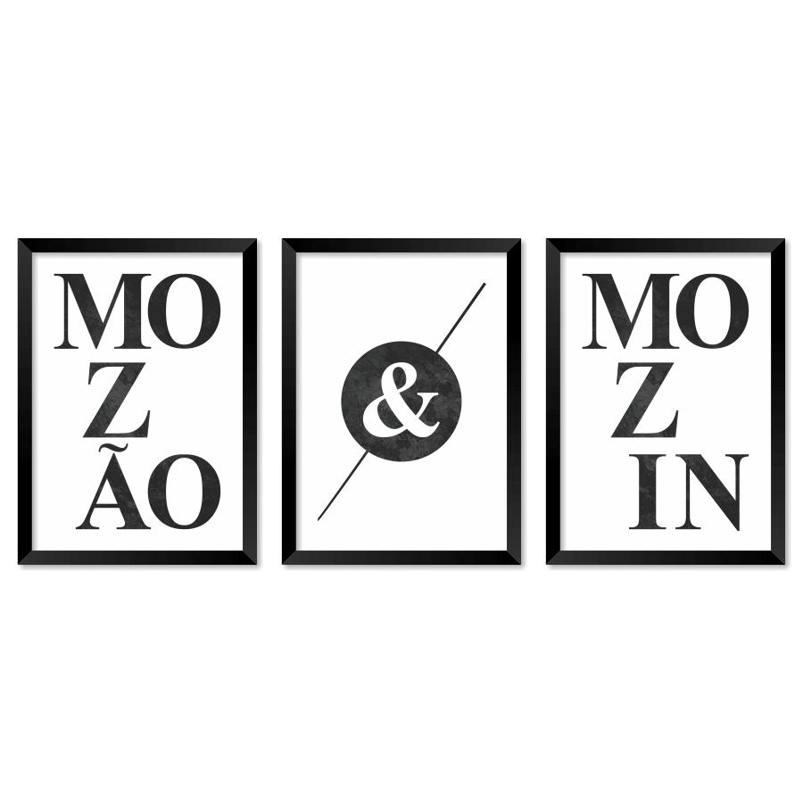 JOGO COM 3 QUADROS MOZÃO & MOZIN  - Pôster no Quadro