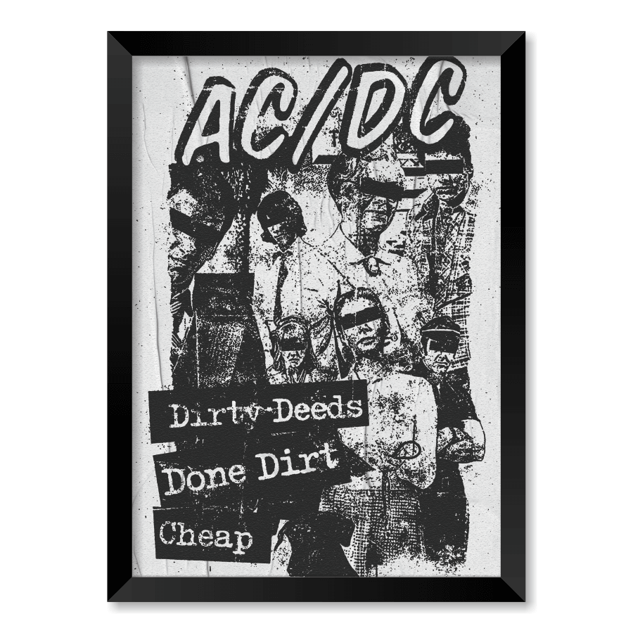 QUADRO AC/DC  - Pôster no Quadro