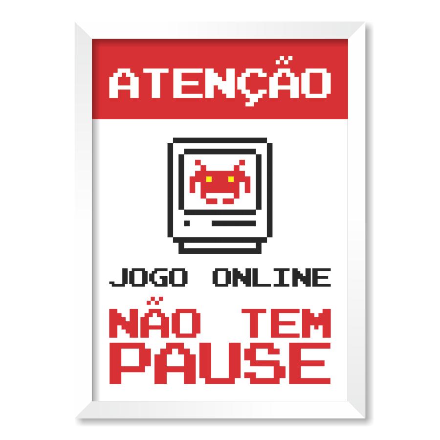 QUADRO ATENÇÃO JOGO ONLINE  - Pôster no Quadro