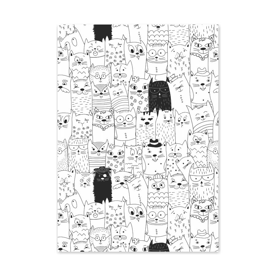 QUADRO CATS  - Pôster no Quadro