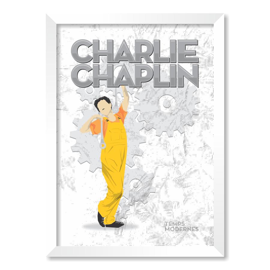 QUADRO CHARLIE CHAPLIN  - Pôster no Quadro