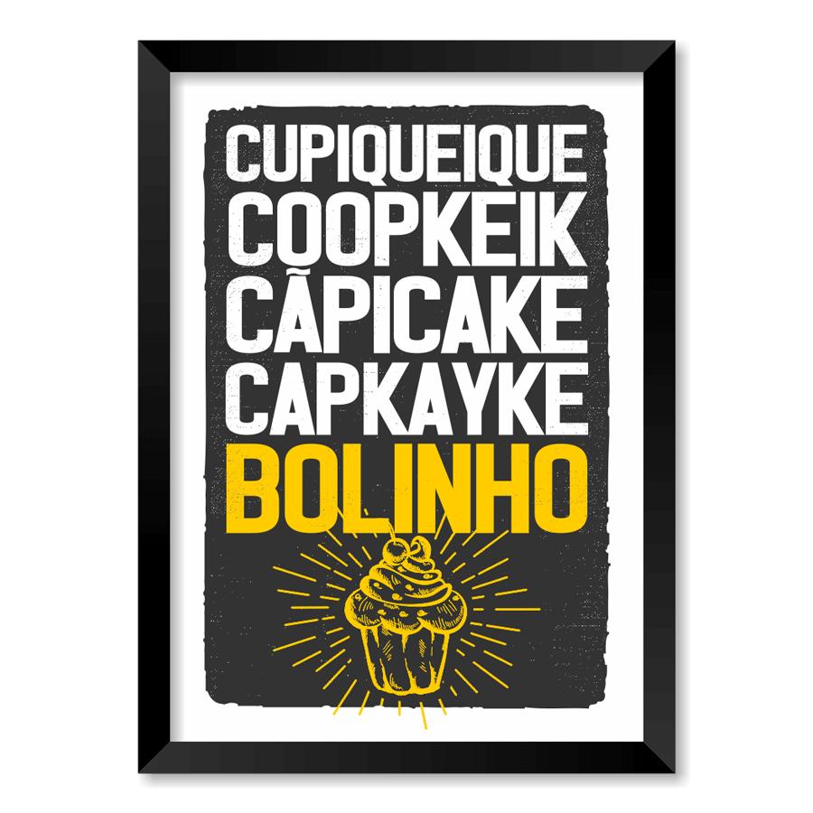 QUADRO CUPCAKE BOLINHO  - Pôster no Quadro