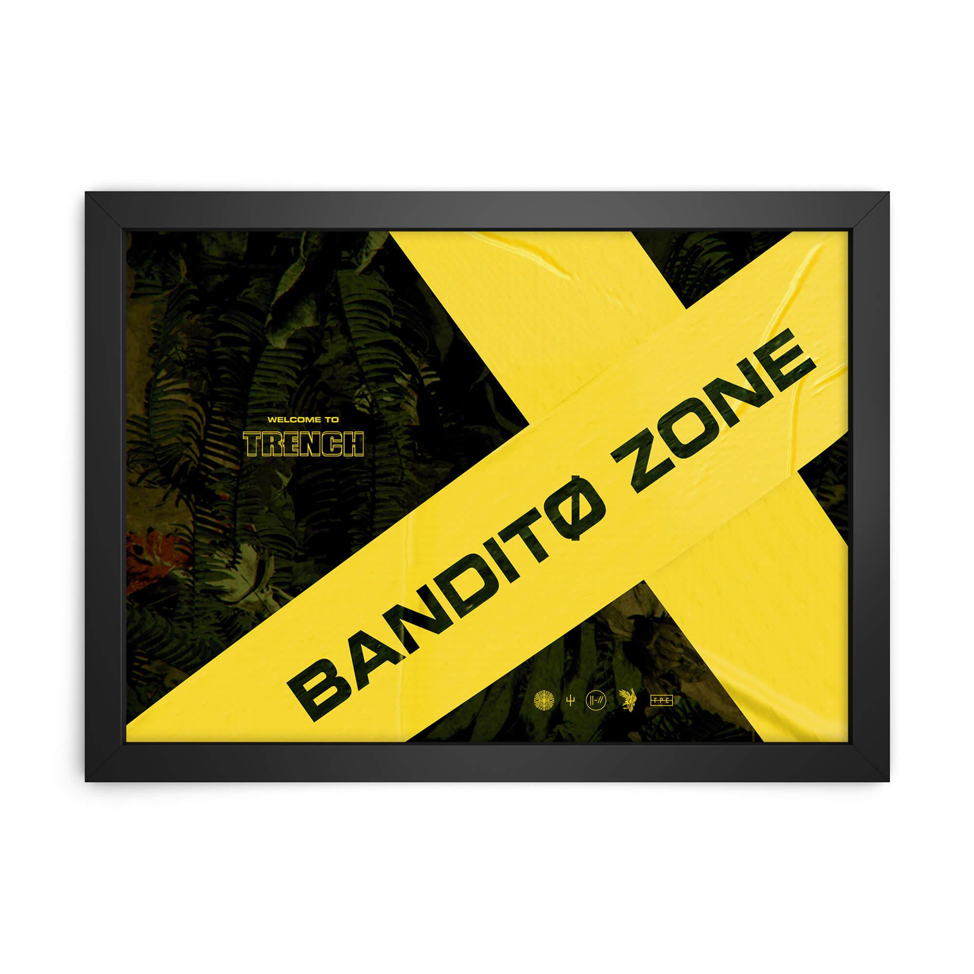 QUADRO DECORATIVO BANDITO ZONE  - Pôster no Quadro