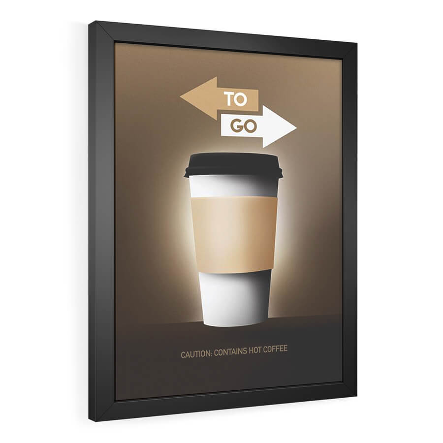 QUADRO DECORATIVO COFFEE TO GO  - Pôster no Quadro