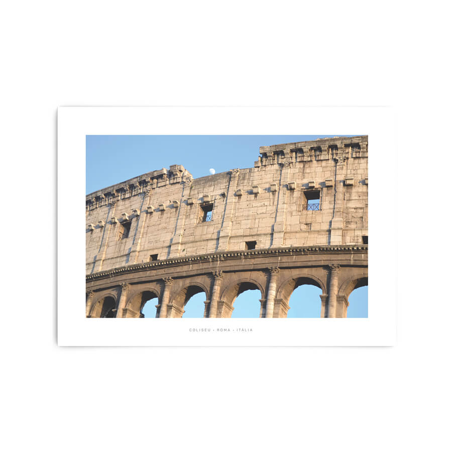 QUADRO DECORATIVO COLISEU, ROMA • ITÁLIA  - Pôster no Quadro