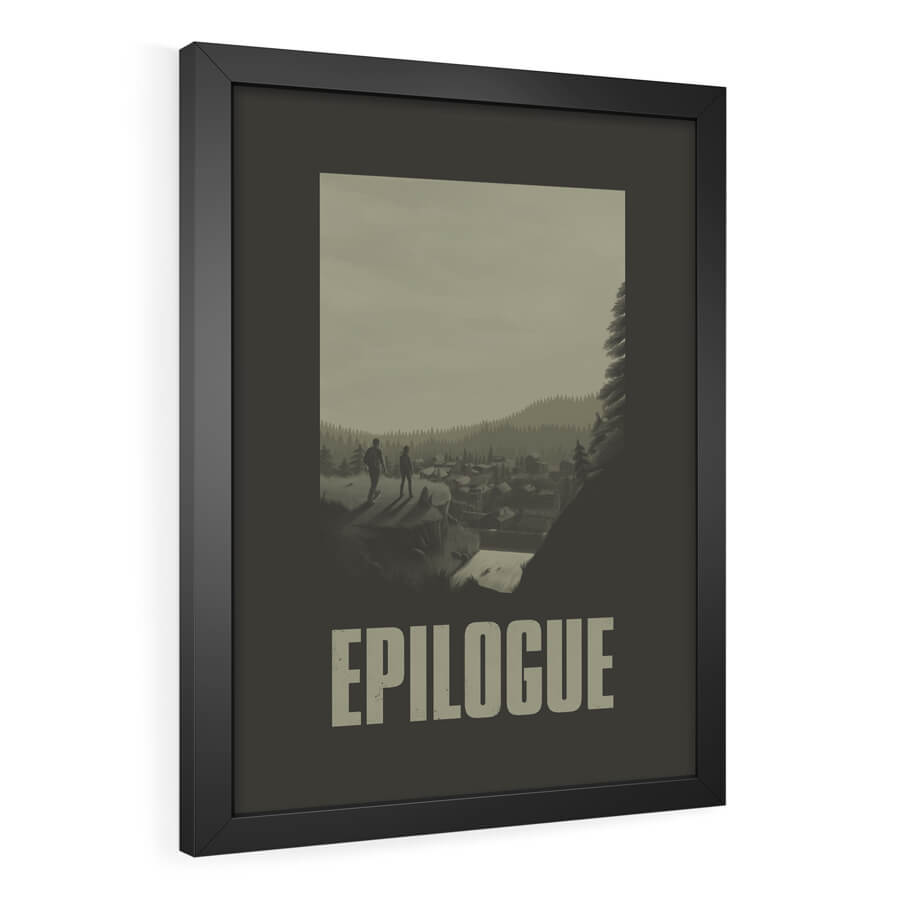 QUADRO DECORATIVO EPILOGUE | THE LAST OF US - Pôster no Quadro