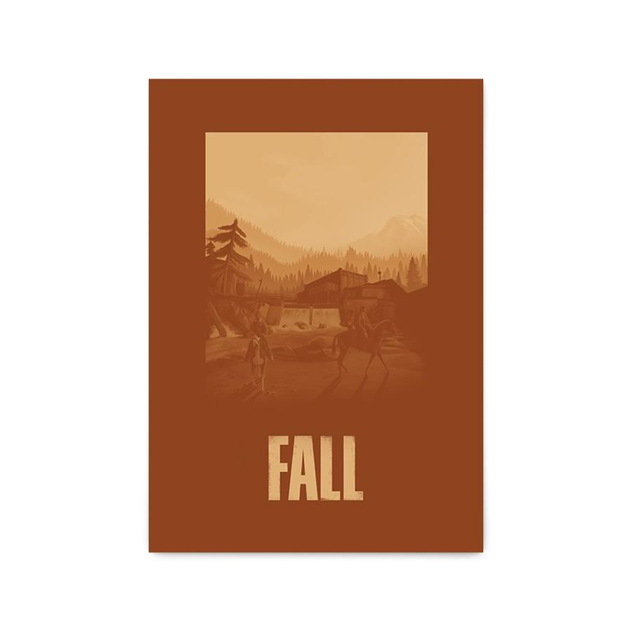 QUADRO DECORATIVO FALL | THE LAST OF US  - Pôster no Quadro
