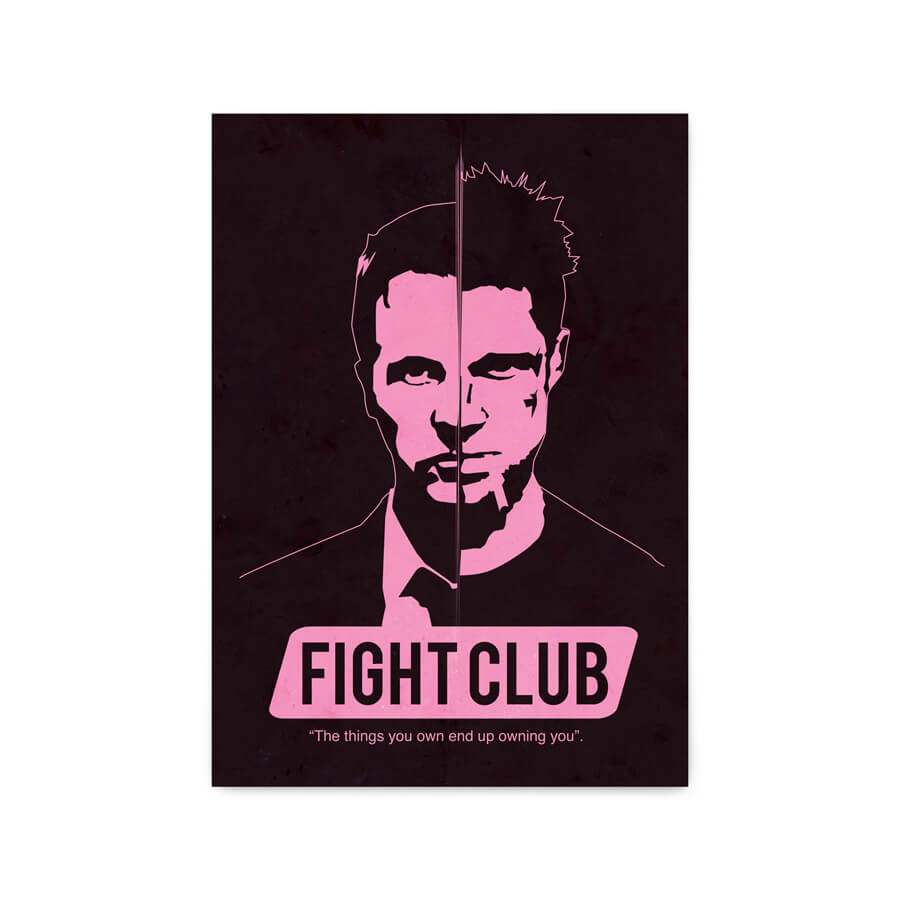 QUADRO DECORATIVO FIGHT CLUB  - Pôster no Quadro