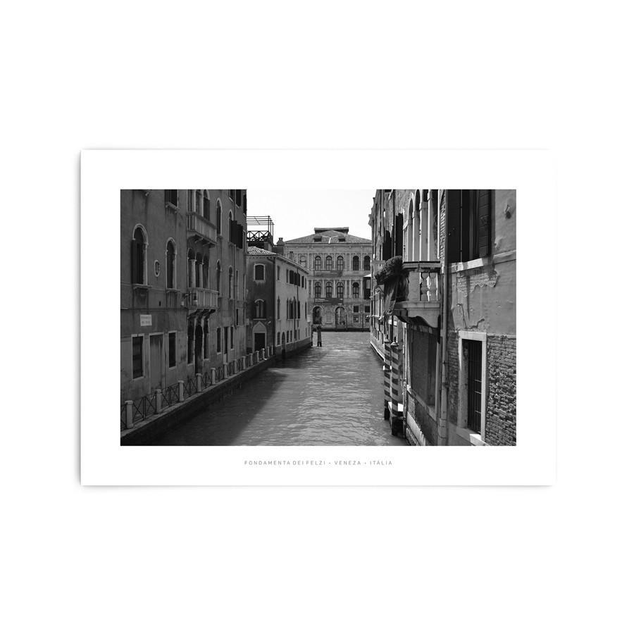 QUADRO DECORATIVO FONDAMENTA DEI FELZI, VENEZA • ITÁLIA  - Pôster no Quadro