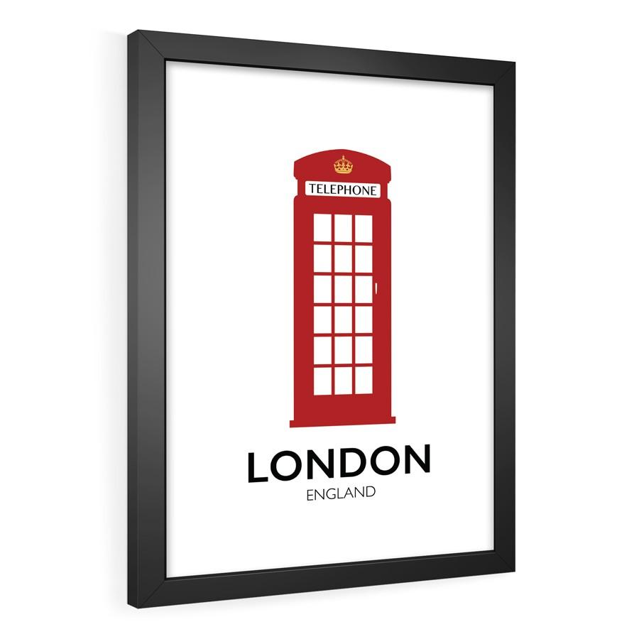 QUADRO DECORATIVO LONDON  - Pôster no Quadro