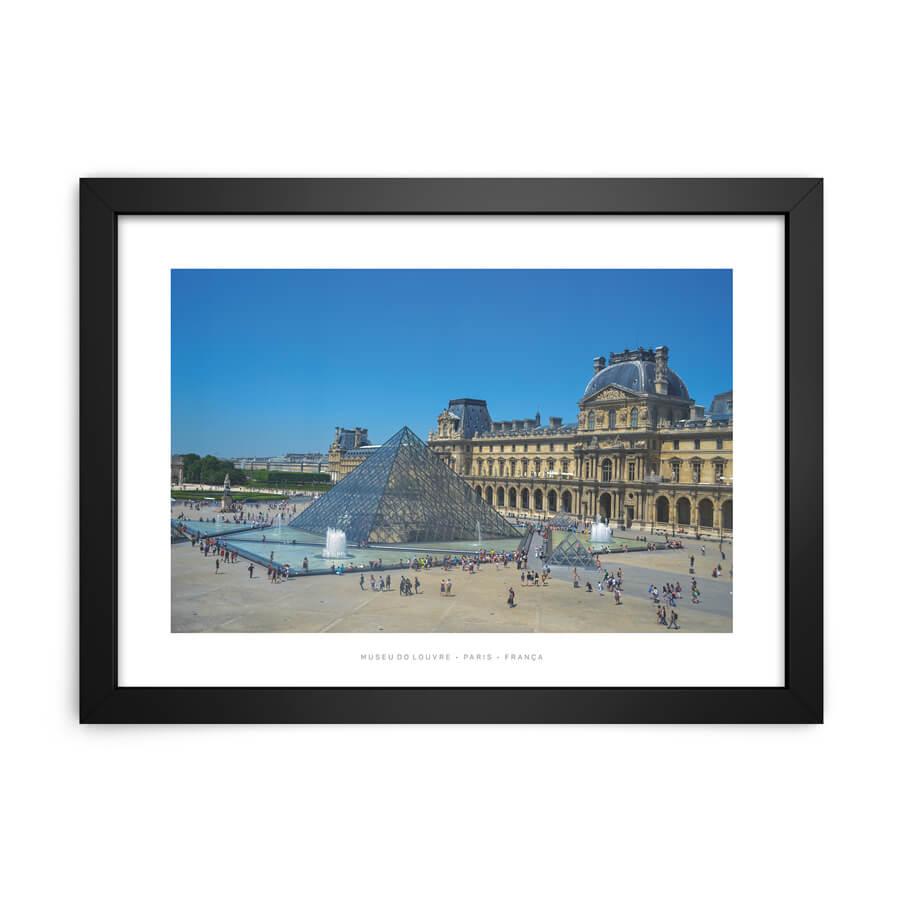 QUADRO DECORATIVO MUSEU DO LOUVRE, PARIS • FRANÇA  - Pôster no Quadro