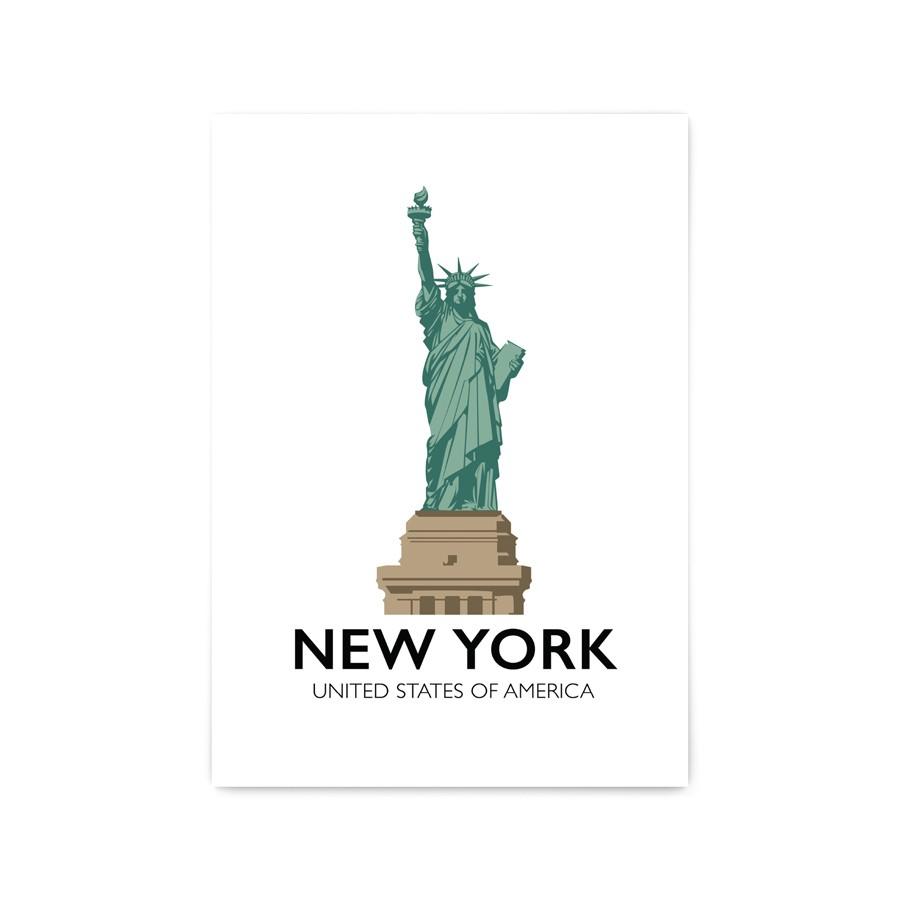 QUADRO DECORATIVO NEW YORK  - Pôster no Quadro