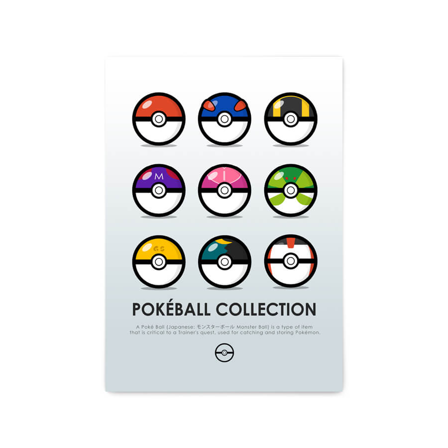 QUADRO DECORATIVO POKÉBALL COLLECTION  - Pôster no Quadro