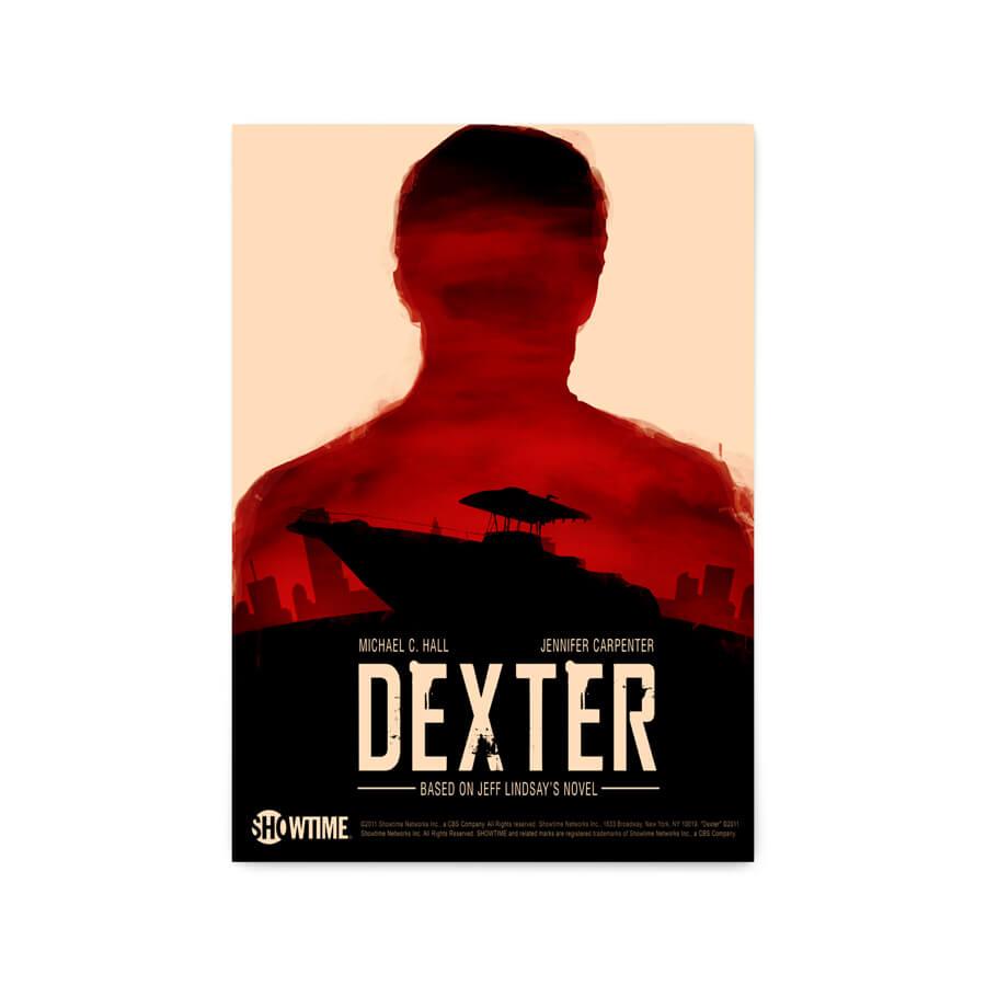 QUADRO DECORATIVO PÔSTER DEXTER  - Pôster no Quadro