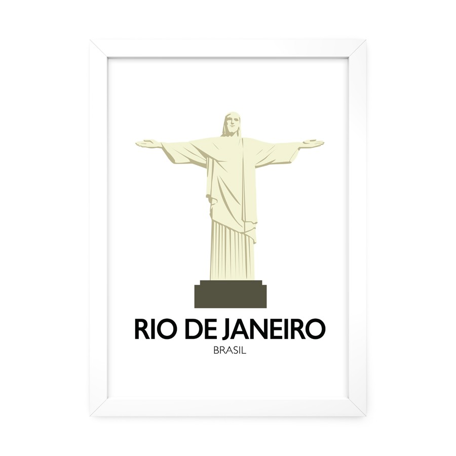 QUADRO DECORATIVO RIO DE JANEIRO  - Pôster no Quadro