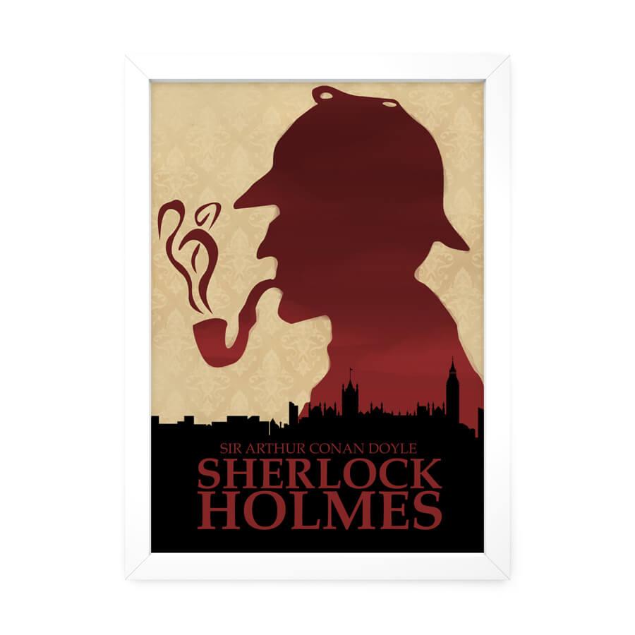 QUADRO DECORATIVO SHERLOCK HOLMES  - Pôster no Quadro