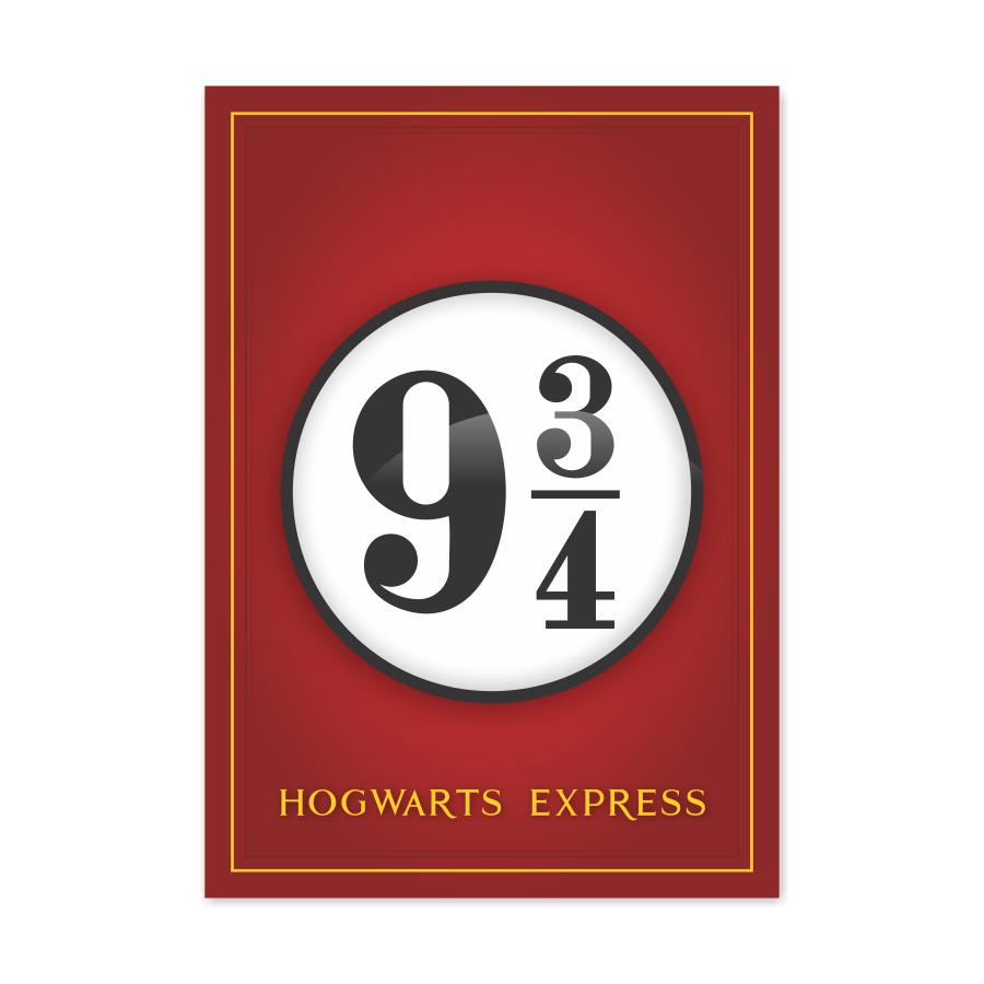 QUADRO HOGWARTS EXPRESS  HARRY POTTER  - Pôster no Quadro