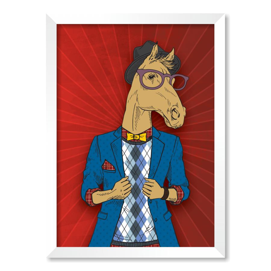 QUADRO HORSE FACE  - Pôster no Quadro