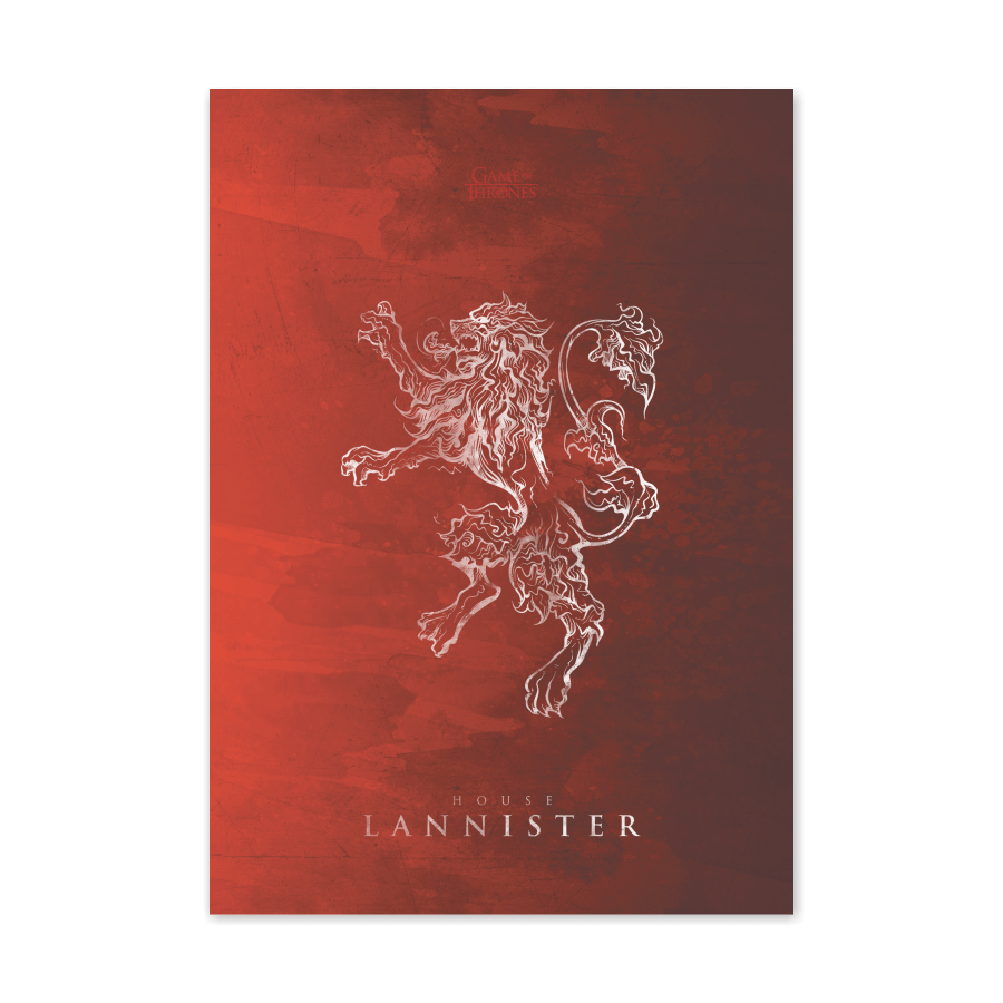 QUADRO HOUSE LANNISTER | GAME OF THRONES  - Pôster no Quadro
