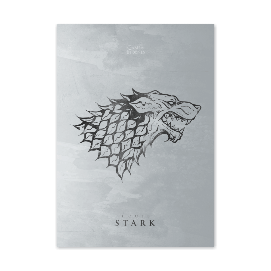 QUADRO HOUSE STARK | GAME OF THRONES  - Pôster no Quadro