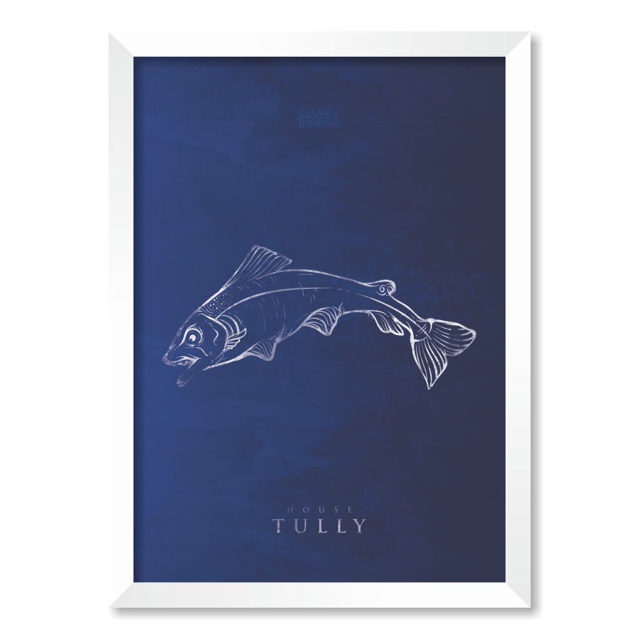 QUADRO HOUSE TULLY | GAME OF THRONES  - Pôster no Quadro