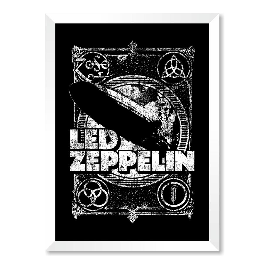 QUADRO LED ZEPPELIN  - Pôster no Quadro