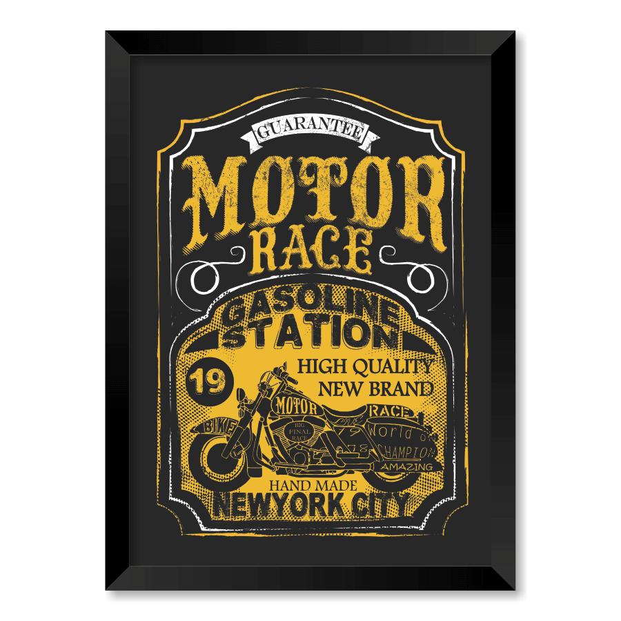 QUADRO MOTOR RACE  - Pôster no Quadro