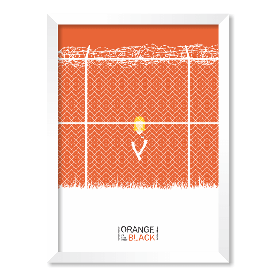 QUADRO ORANGE IS THE NEW BLACK  - Pôster no Quadro