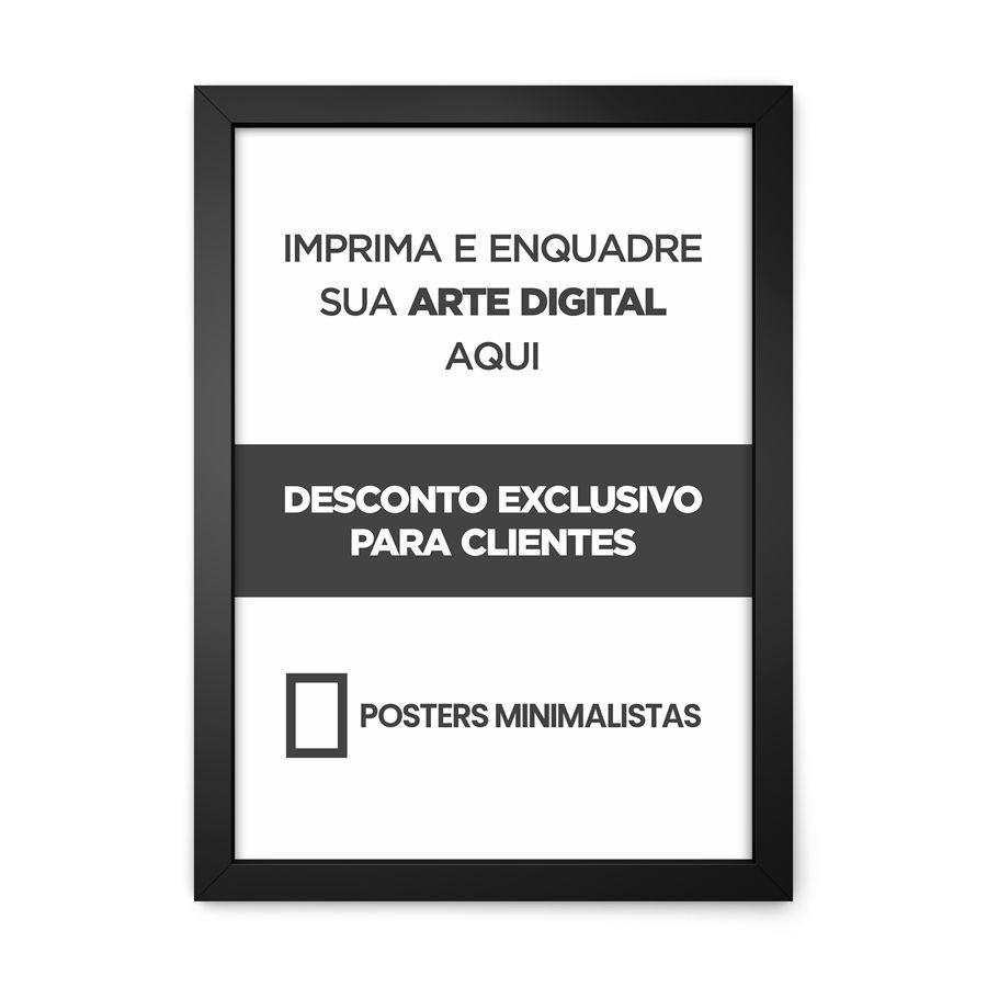 QUADRO PERSONALIZADO | POSTERS MINIMALISTAS  - Pôster no Quadro