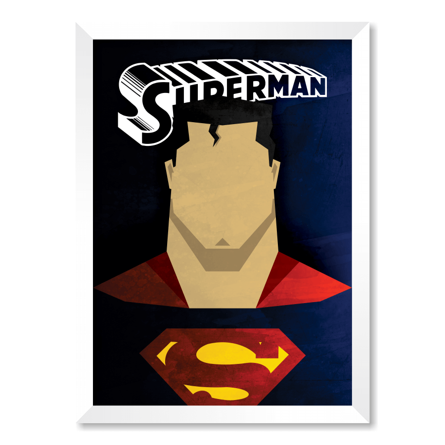 QUADRO SUPERMAN  - Pôster no Quadro