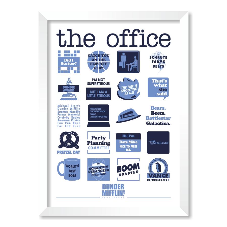 QUADRO THE OFFICE  - Pôster no Quadro