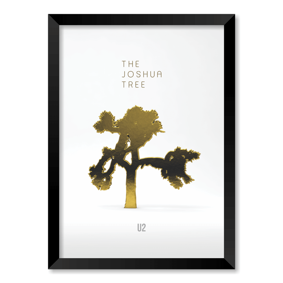 QUADRO U2 - THE JOSHUA TREE  - Pôster no Quadro