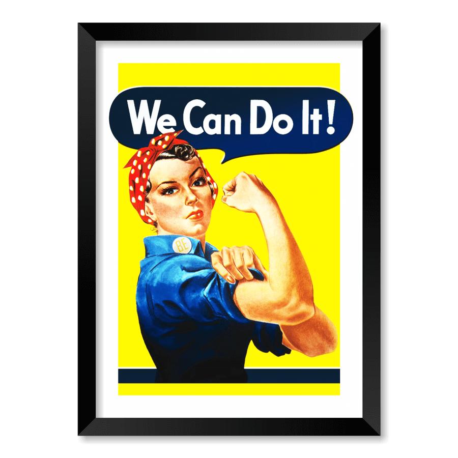 QUADRO WE CAN DO IT!  - Pôster no Quadro