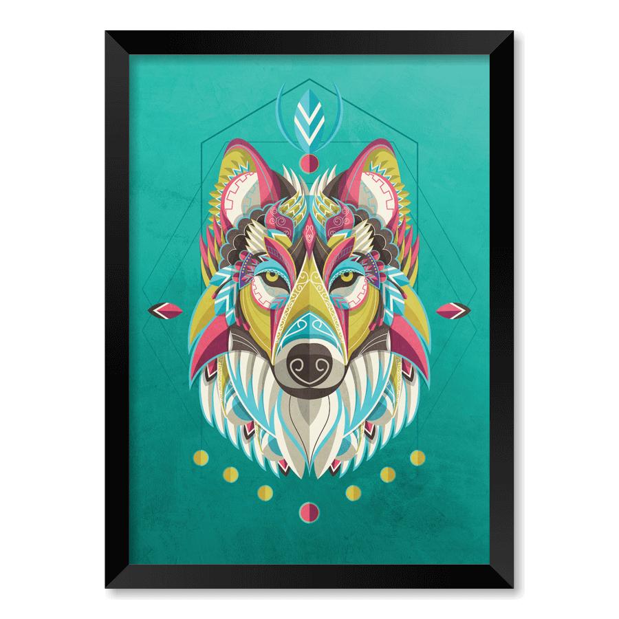 QUADRO WOLF ART  - Pôster no Quadro