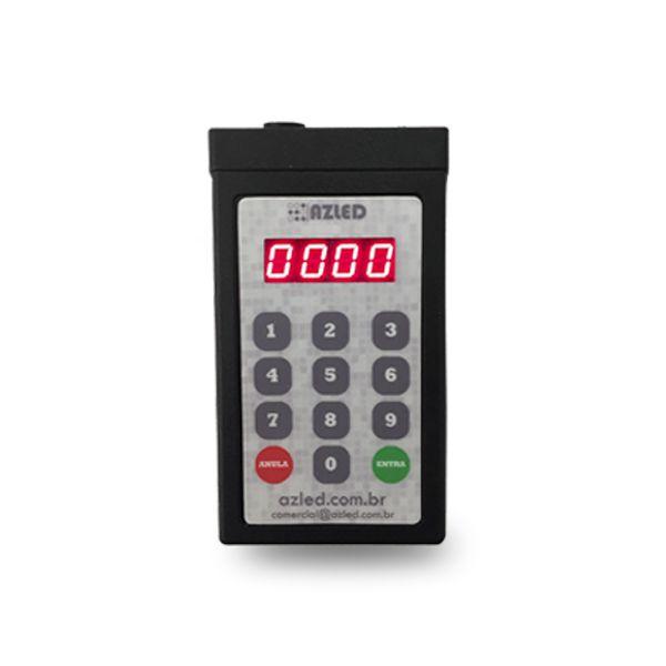 Painel de Senha 3 Dígitos Compact c/ Teclado Digitador Aleatório - Kit Praça Alimentação