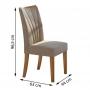 Conjunto Sala de Jantar 6 Cadeiras Apogeu Móveis Lopas Rovere Naturale/Suede Animale Bege
