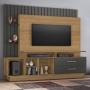 Estante Home para TV até 65 Polegadas Fascínio JCM Móveis Noronha Grafite