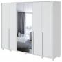 Guarda Roupa Casal 6 Portas 2 Com Espelho Com Pés 6 Gavetas Imperatore Lopas Branco