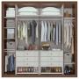 Guarda Roupa Casal 6 Portas 6 Gavetas Com Espelho Stillus New Imbuia Naturale Off/white