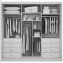 Guarda Roupa Casal 6 Portas 8 Gavetas Com Espelho  Bari Novo Horizonte Branco