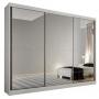 Guarda Roupa Casal com Espelho 3 Portas 6 Gavetas Passion Novo Horizonte Branco