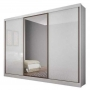 Guarda Roupa Casal Com Espelho 3 Portas 6 Gavetas Spazzio Novo Horizonte Branco