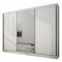 Guarda Roupa Casal Com Espelho 3 Portas 8 Gavetas Natus Novo Horizonte Branco