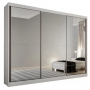 Guarda Roupa Casal com Espelho 3 Portas 8 Gavetas Passion Novo Horizonte Branco