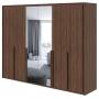 Guarda Roupa Casal Com Espelho 6 Portas 6 Gavetas Imperatore Lopas Imbuia Naturale