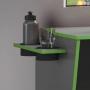 Mesa Gamer com Suporte CPU Cyber Candian JCM Móveis Grafite e Verde